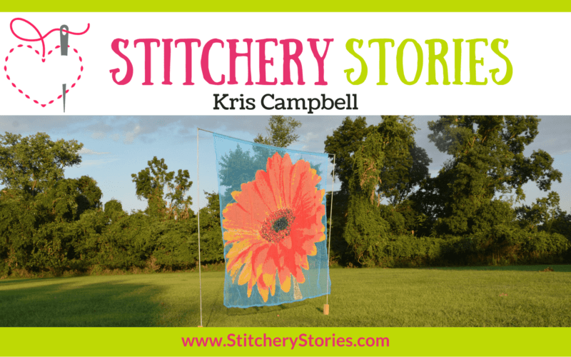 Kris Campbell guest Stitchery Stories embroidery podcast Wide Art