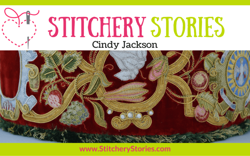 Cindy Jackson guest Stitchery Stories embroidery podcast Wide Art