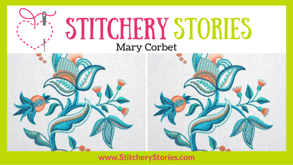 Mary Corbet guest Stitchery Stories embroidery podcast Wide Art