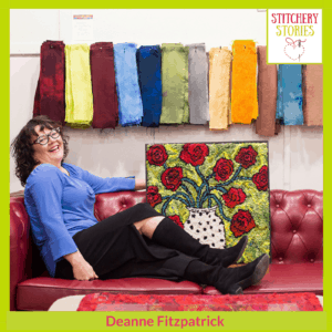Deanne Fitzpatrick Stitchery Stories Podcast Guest