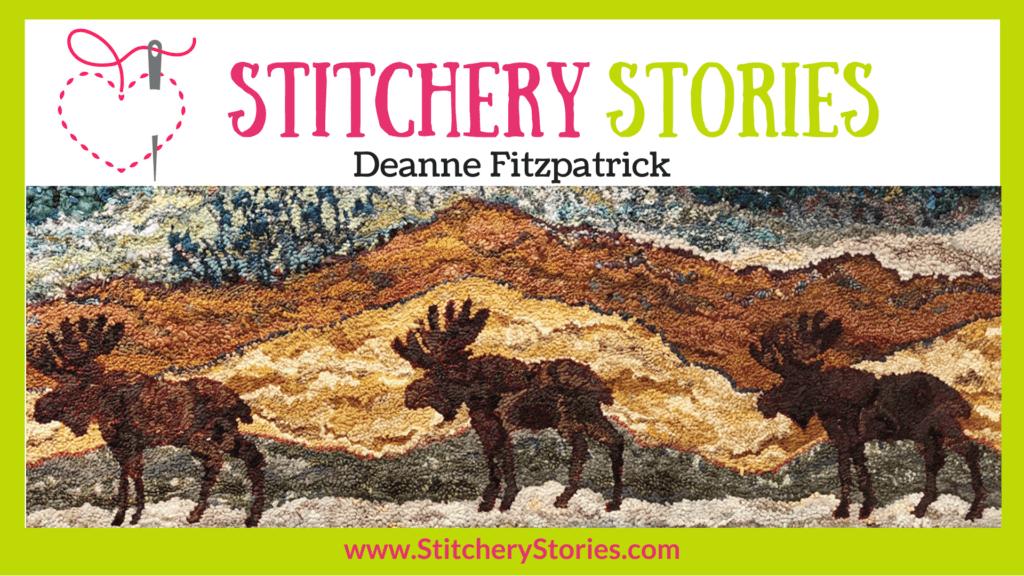 Deanne Fitzpatrick guest Stitchery Stories textile art podcast Wide Art