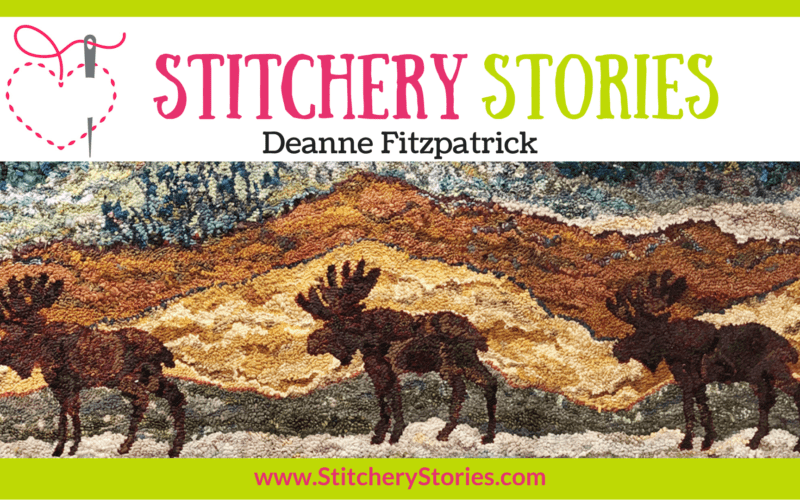 Deanne Fitzpatrick guest Stitchery Stories textile art podcast Wide Art