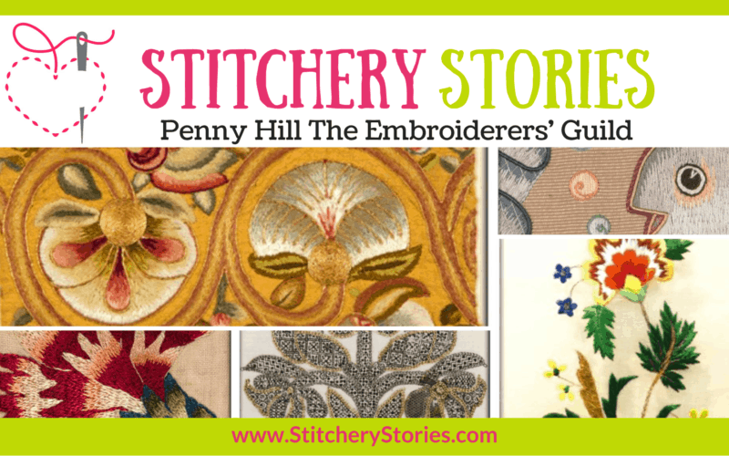Penny Hill Eg trustee guest Stitchery Stories embroidery podcast Wide Art