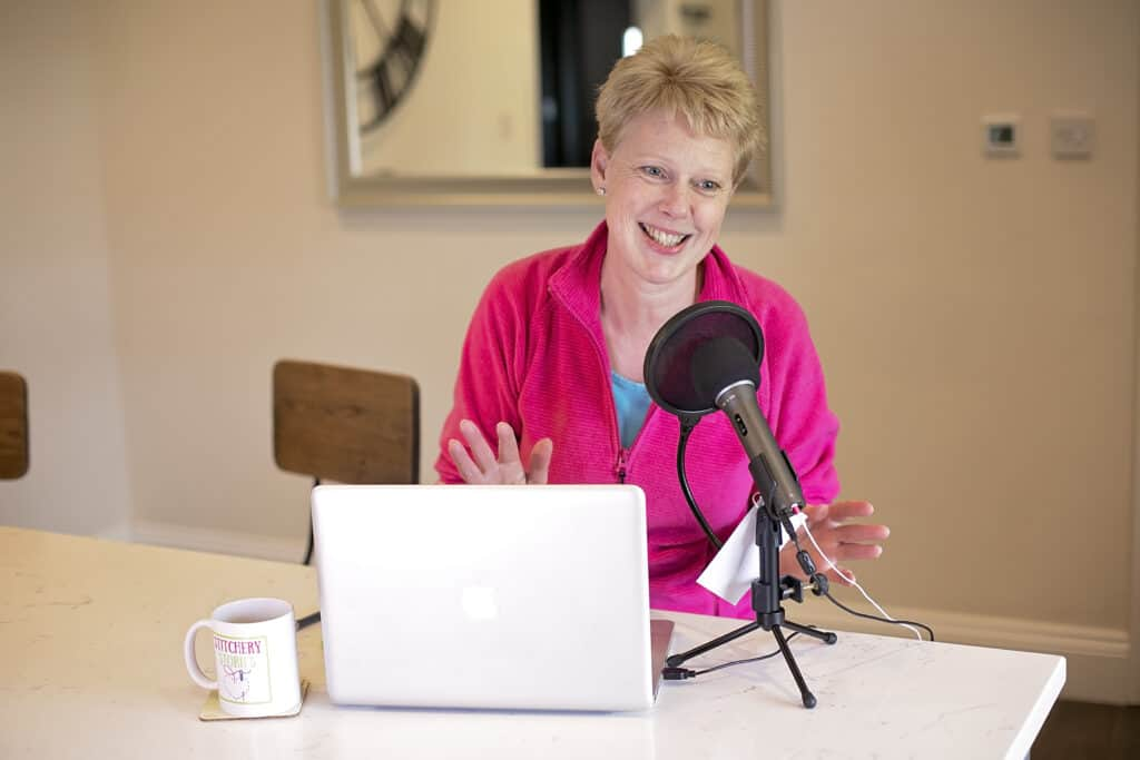 Susan Weeks Podcaster host of Stitchery Stories podcast