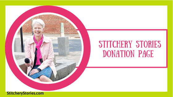 donation page at stitchery stories featured