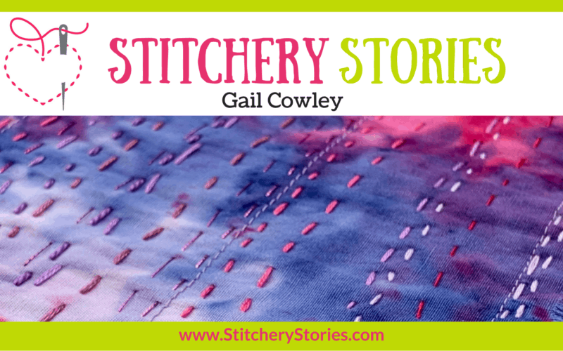 Gail Crowley guest Stitchery Stories textile art podcast Wide Art