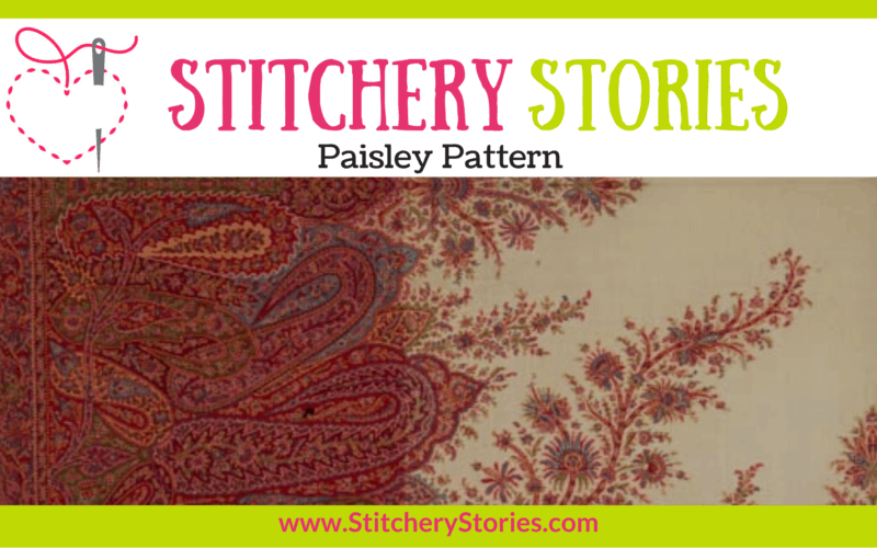 Paisley Pattern guest Stitchery Stories textile art podcast Wide Art