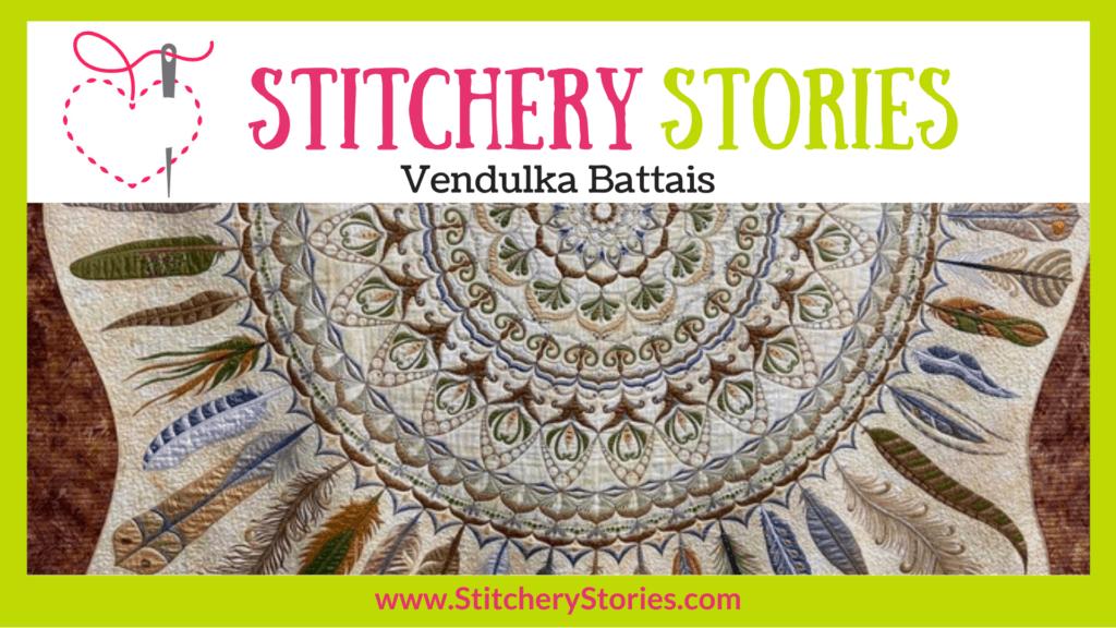 Vendulka Battais guest Stitchery Stories textile art podcast Wide Art