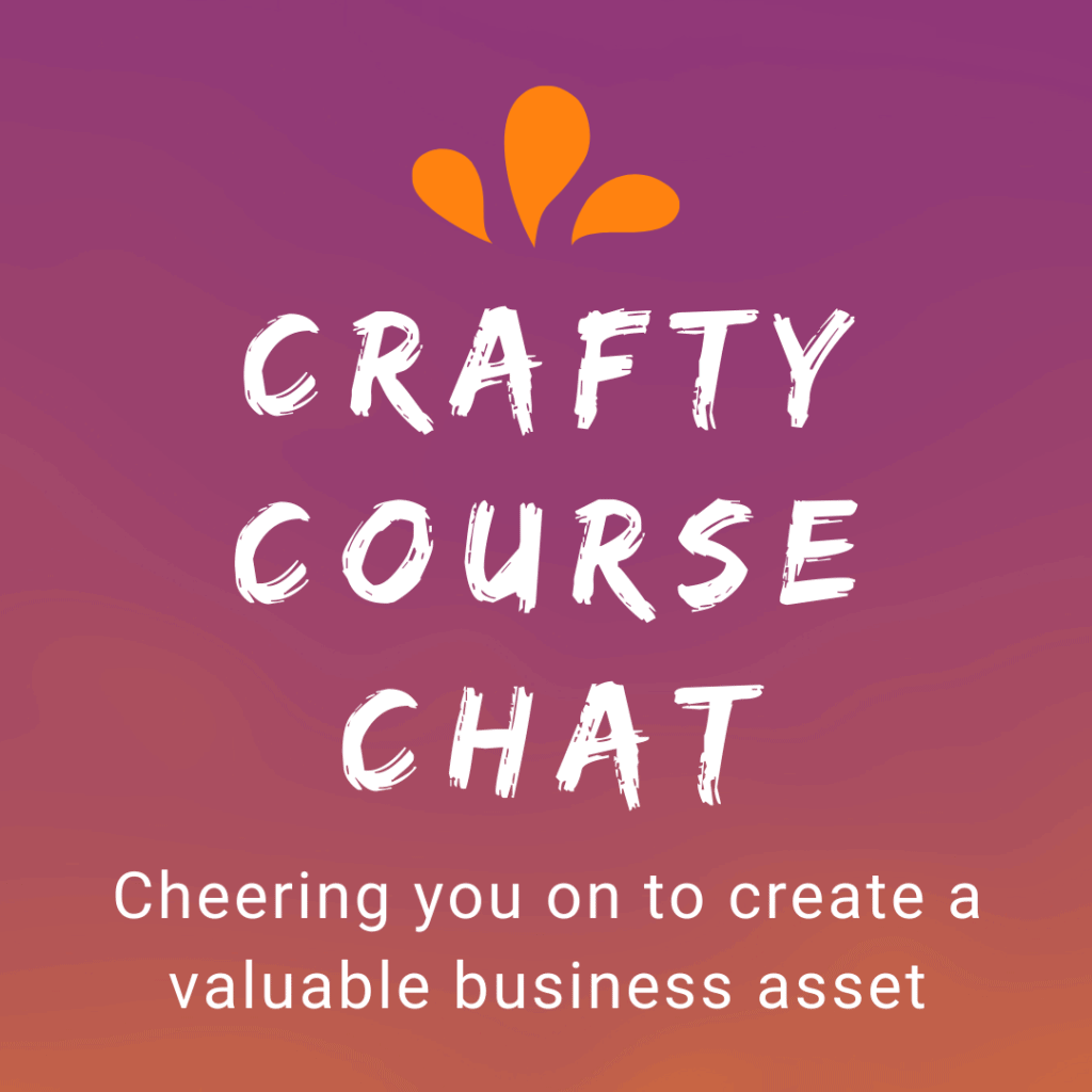 square logo for Crafty Course Chat Newsletter