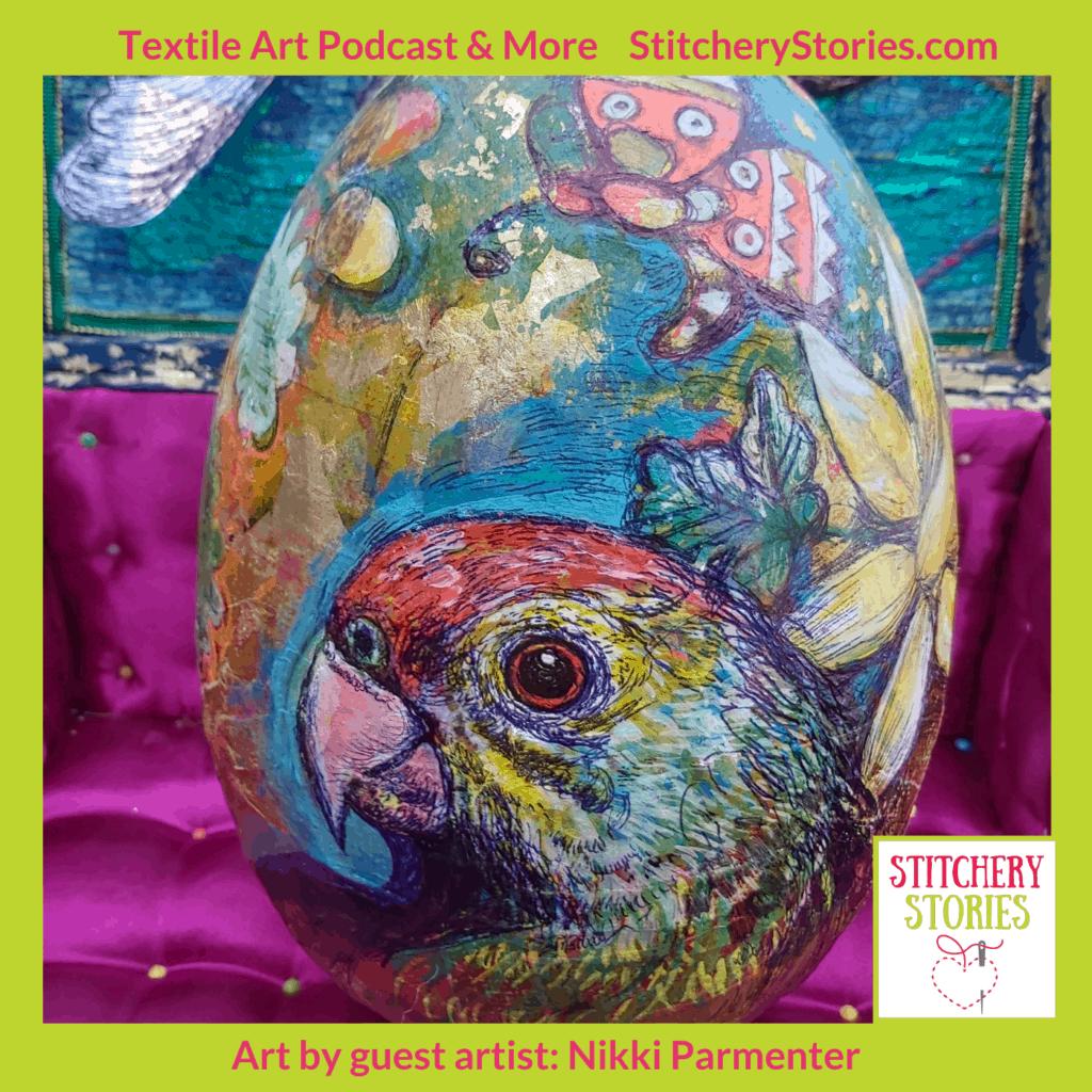 Gawthorpe Egg by Nikki Parmenter Stitchery Stories podcast