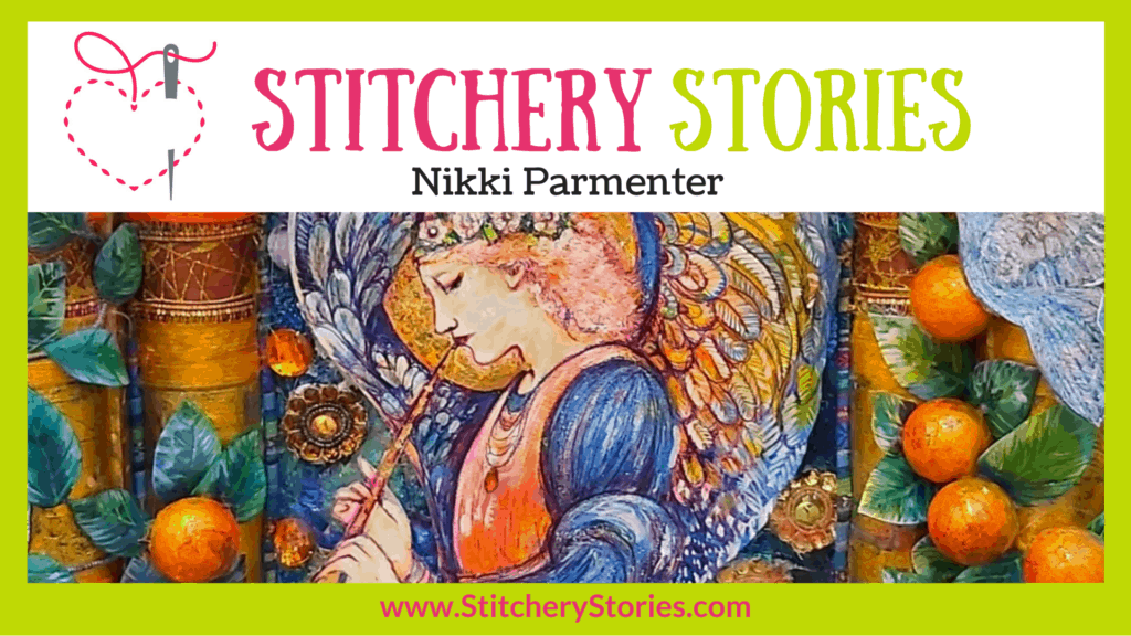 Nikki Parmenter guest Stitchery Stories textile art podcast Wide Art